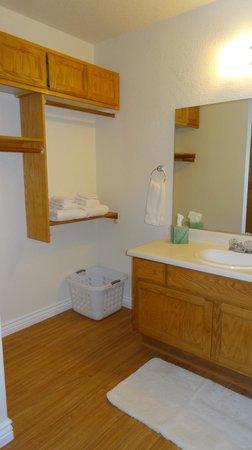 Shangri La River Suites Motel: bathroom vanity area