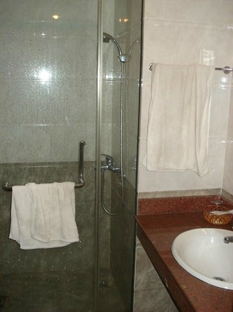 Google Hostel: Bathroom with box