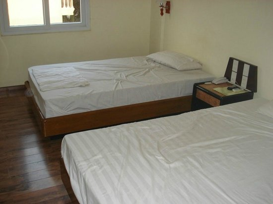 Google Hostel: Two big beds and window