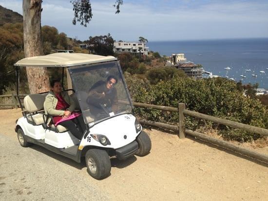 Catalina Island Visitors Bureau: self driving golf car