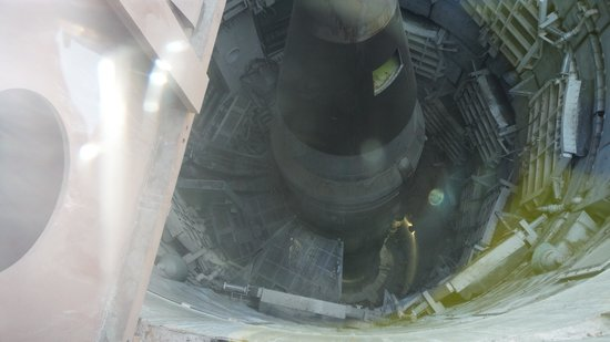 Titan Missile Museum: Looking down on the missile