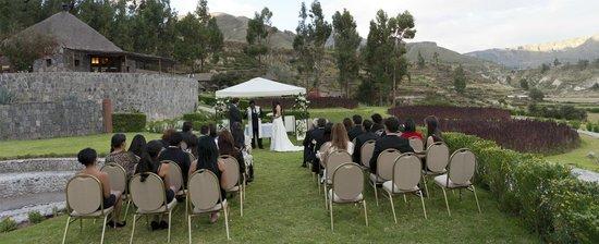 Yanque, Περού: Nuetra boda en el exterior del Hotel