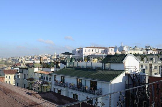 Asmali Hotel : Veduta della città dalla terrazza