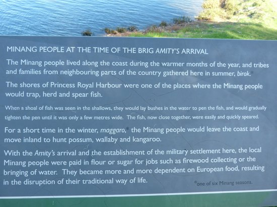 Replica of the Brig Amity: Sign at the Brig Amity