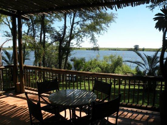 Chobe Marina Lodge: Aussicht von der Lodge