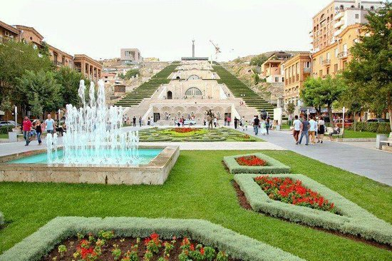 Image result for Yerevan Cascade