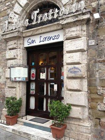 Antica Trattoria San Lorenzo: un ingresso che invita