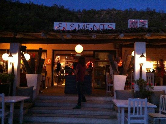Elements Ibiza Beach Restaurant: Il ristorante
