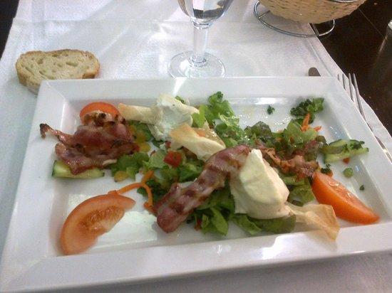 Le Palacio : l'insalata di formaggio di capra