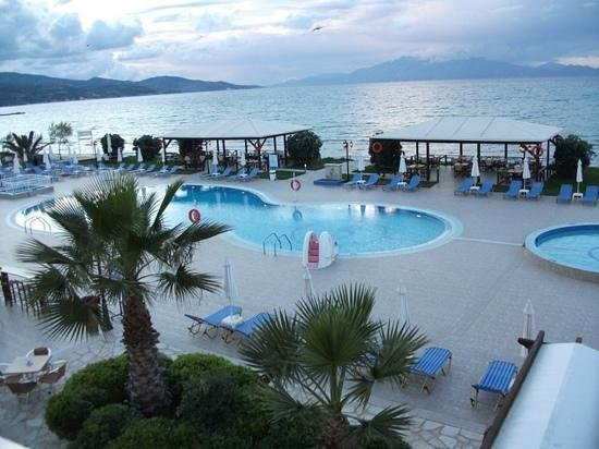 Alykanas, Greece: View of the pool from our room