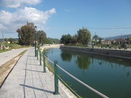 Alykanas Beach Apart-Hotel: The nearby canal