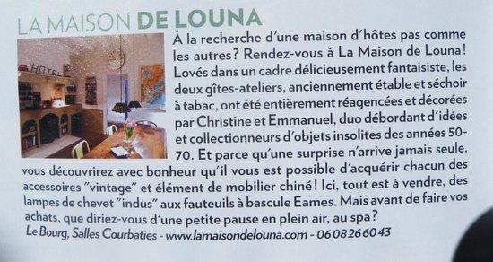 La Maison de Louna: revue de presse