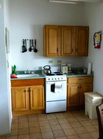 The Catamaran Hotel: Kitchen area. Well stocked.