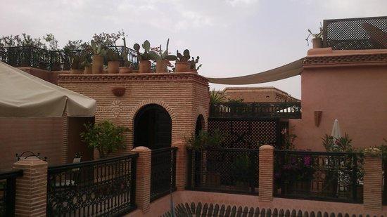 Riad Les Trois Palmiers El Bacha: La terrazza