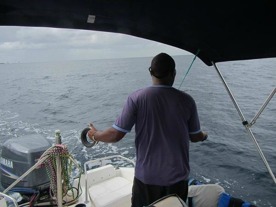 The Club, Barbados Resort and Spa: Fishing with hotel staff