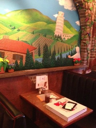 Mama's Pizza: One of two murals in dining room