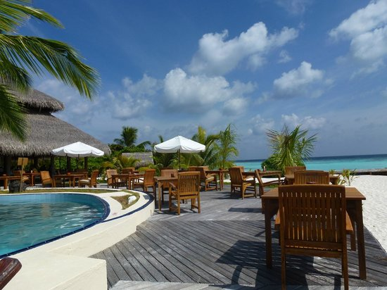 Filitheyo Island Resort: côté piscine