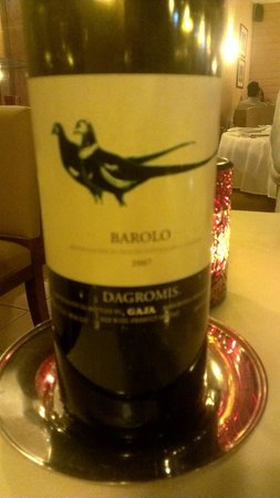 Spiga Restaurant : great bottle of wine