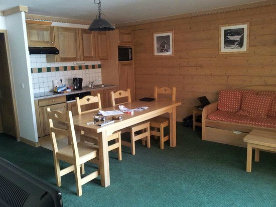 Residence LVH Vacances - Sun Valley : Séjour, cuisine, salon