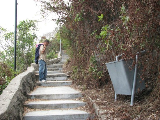 El Faro Lighthouse: The stairs going to the Faro (lighthouse) 2nd highest