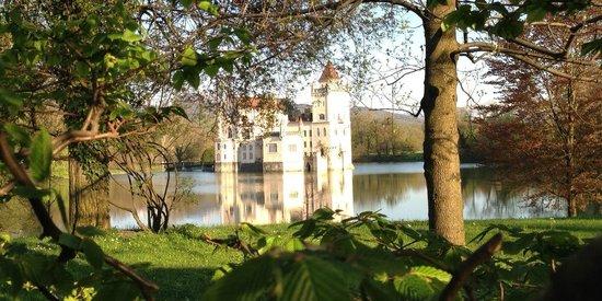 Restaurant & Hotel Schlosswirt zu Anif: Wasserschloss Anif - Blick vom Gastgarten aus
