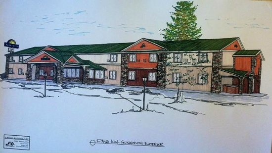 Days Inn & Suites Gunnison : Outside rendering will be completed May 8th 2013