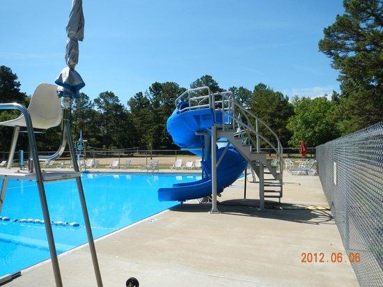 Petit Jean Campground: public swimming pool at Petit Jean State Park