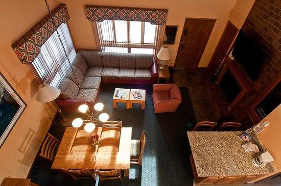 VRI Streamside at Vail - Cedar: One Bedroom Loft - Loft View of Living Room