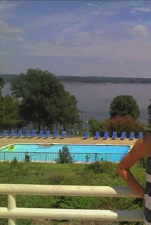 Kenlake State & Resort Park: View of pool and Kentucky Lake