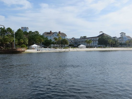 Disney's Beach Club Resort: View of Beach Club from the boat