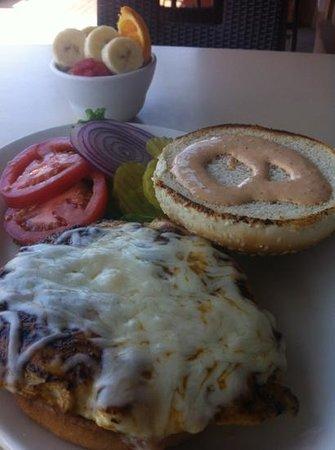 The Local Yolk: blackened chicken sandwich lunch special