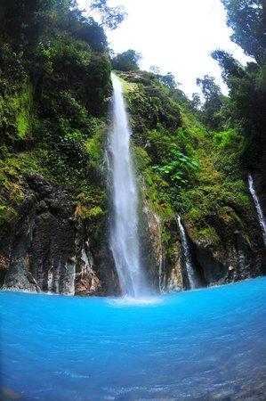 Air Terjun Dua  Warna  North Sumatra Indonesia 2020