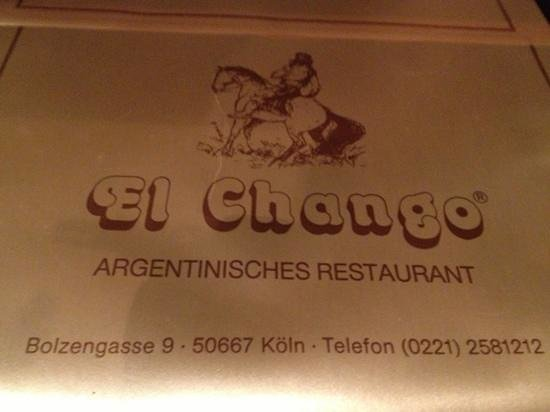 El Chango: table mate