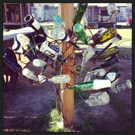 Shack Up Inn: Bottle tree