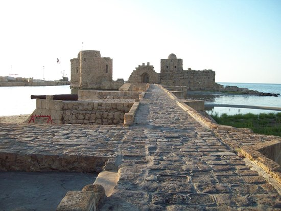 Sidon, Lebanon: Entrance of the Castle