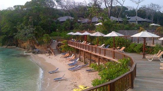 Media Luna Resort & Spa: Plage privé