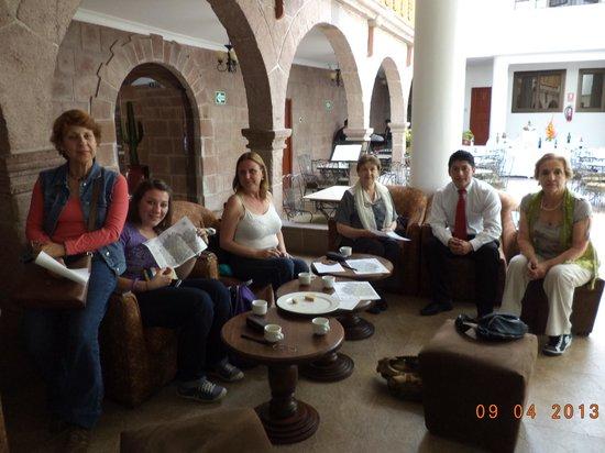 Terra Andina Colonial Mansion : en el hotel, a la llegada
