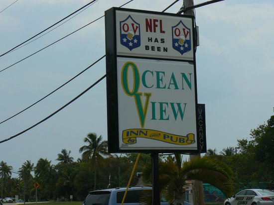 Ocean View Inn and Sports Pub : Welcome sign