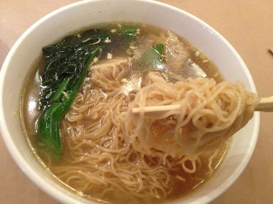 Bugis Street Brasserie: wonton soup noodles