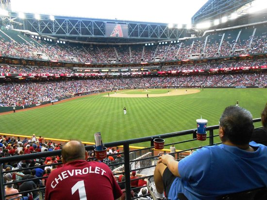 Chase Field: Loved the view