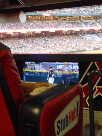 Chase Field: Lounge seats to with big screen to watch at the game--while at the game