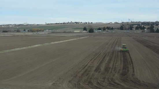 SpringHill Suites Rexburg: View of the fields from the room