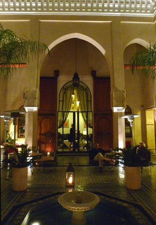 Riad Said: center courtyard