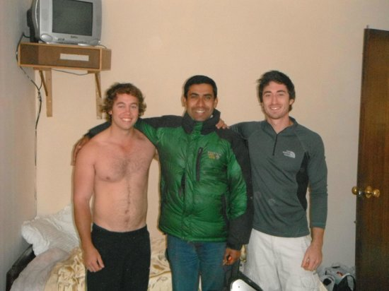Elbrus Home: Myself, one of the owners (champ) and mate