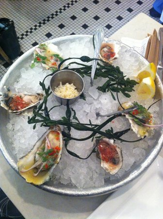 Blue Plate Oysterette : smaller oysters the newcomer like me