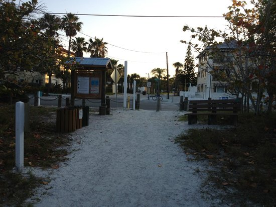 Sea Spray Resort on Siesta Key: The road you cross that runs between the Sea Spray grounds and Siesta Key Beach