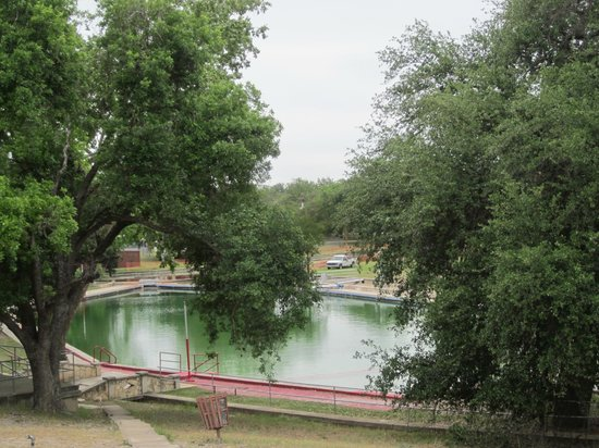 Brackettville, TX: the spring fed pool