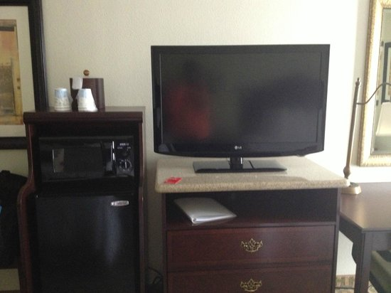 Hampton Inn Orlando/Lake Buena Vista: TV, refrigerator and microwave in the rooms