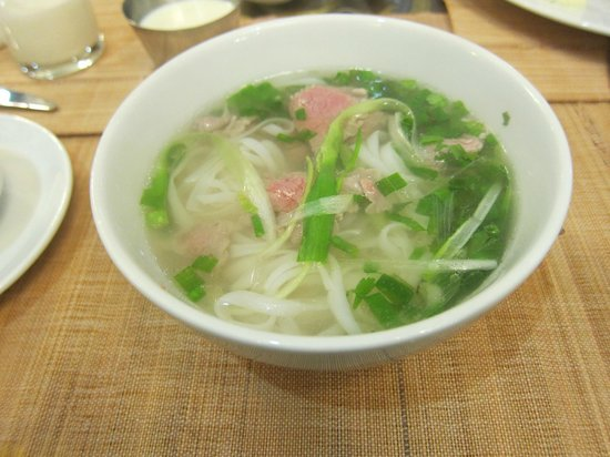 Golden Rice Hotel Hanoi: pho for breakfast