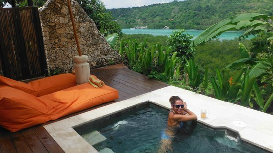 Twin Island Villas: Our private plunge pool with amazing views